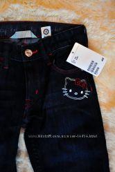 Фирменные джинсы НМ - Hello Kitty
