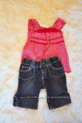 Комплект Pumpkin Patch - бриджи джинсовые и блуза прованс