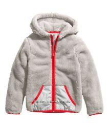 Плюшевые меховые кофты для мальчиков и девочек H&M размер 92-170