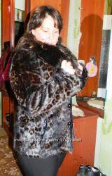 Саsaba. р. 48 - 50 Шикарный леопард полушубок - автоледи р. ХL