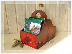 Короба для специй, духов-кремов, документов, брошюр и пр.