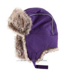 Термошапка-ушанка H&M, фиолетовая 1-3 года