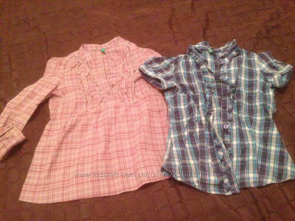 Стильные блузки рубашки Benetton