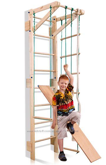 Шведская стенка для детей для дома, горка и турник