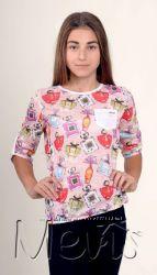 Легкая трикотажная кофточка-блузка