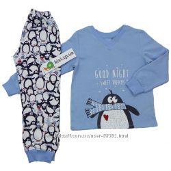 Утепленная пижама на байке ПЖ41 ТМ Бемби р. 92-140 в налич-разные расцветк
