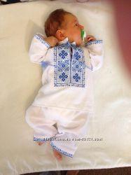 Костюм для хрещення хлопчика з вишитим орнаментом
