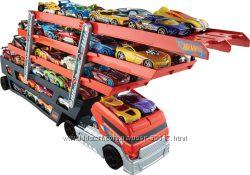 Грузовик-транспортер Hot Wheels Mega Hauler автовоз на 50 машинок CKC09