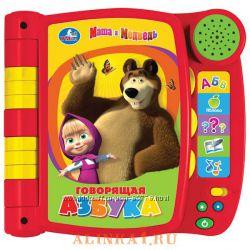 Интерактивная пластиковая книга Умка Говорящая Азбука Маша и Медведь