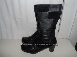 Демисезонные кожаные сапожки 36-37 размер