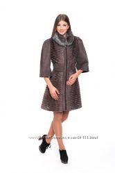 шикарное меховое пальто ТМ Miss Lora