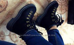 Ботинки зимние натуральная кожа на шнурках с  36 по 41 размер
