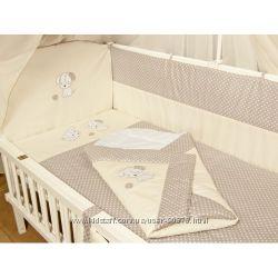Наборы постельного в кроватку новорожденного из 3, 4, 5, 6, 7, 8 элементов