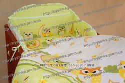 Комплект постельный детский простынь пододеяльник наволочка в кроватку
