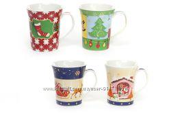 новогодние чашки фарфор