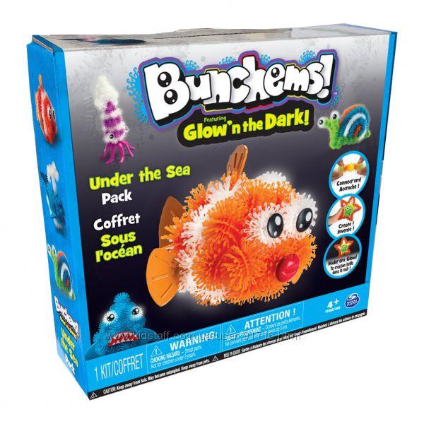 Оригинальный набор Банчемс Bunchems Glow in the Dark Рыбки