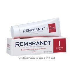 Отбеливающая зубная паста Rembrandt красная и зеленая