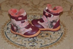 Зимние кожаные ботиночки на девочку