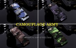 Чехол для iPhone 5, 5S, 6, 6 Plus, 7 Camouflage Army