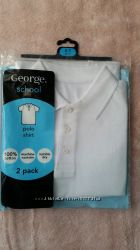 Новые поло George, белые и желтые
