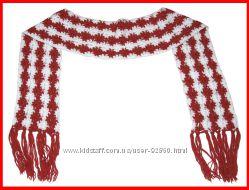 Шикарный теплый длинный шарф вязка цветы 2. 35 м отл. сост.