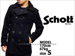 Двубортное пальто из США оригинал фирмы SCHOTT деми р-р S, M