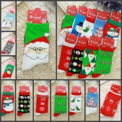 Яркие новогодние носки для взрослых Подарки на НГ