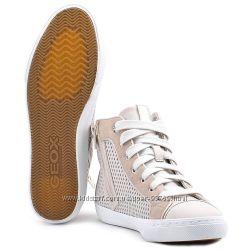 Оригинал новые кожаные сникерсы GEOX DONNA NEW CLUB 40 р.