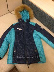 продам куртку зимнюю для мальчика р. 140 36 размер