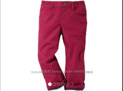 Термо брюки флис для девочек Lupilu Германия бордо р86