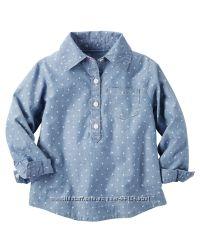 CARTERS стильная рубашка в горох 3-4 года 4T  Акция дешевле сайта