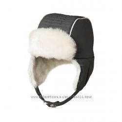 Шапка термошапка Chicco  из новой коллекции серая ушанка мех