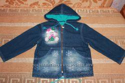 Джинсовая куртка на флисовой подкладке Глория Джинс