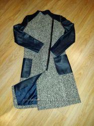 Пальто-удлененный жилет демисезонное