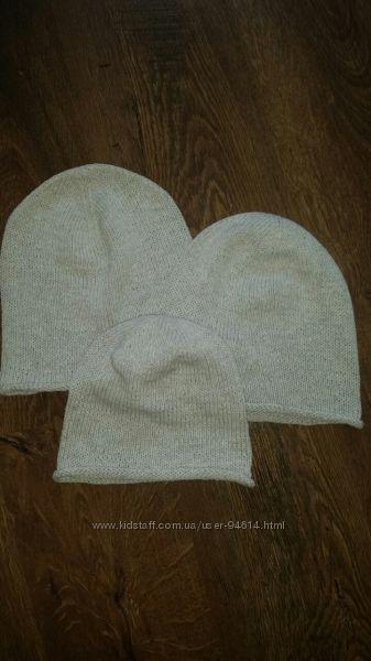 Модная шапка бини для весны хлопок лен