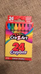 Crayons восковые карандаши - упаковка 24 шт. , Crayola оригинал