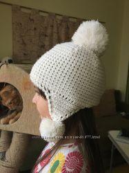 Осеняя шапочка крупной вязки