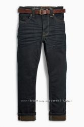 Черные зауженные джинсы с ремнем Next
