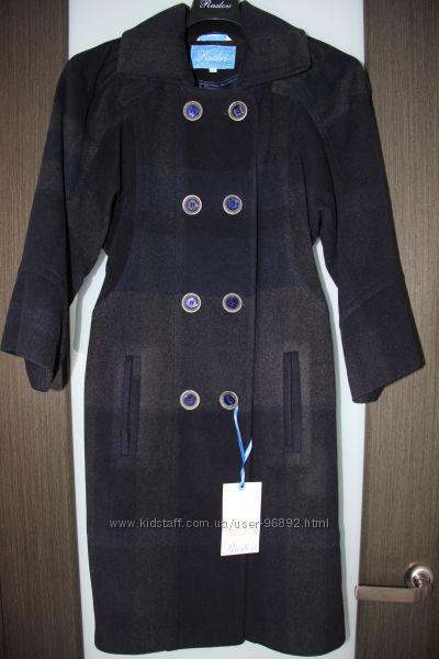 Кашемировое пальто Raslov демисезонное размер S, темно-синее