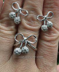 Стильный серебряный комплект набор со скидкой.