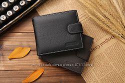 Мужской портмоне черного и коричневого цвета