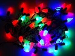 Светодиодная Гирлянда Капельки Новогодняя на Елку 1, 3 см 40 LED Мульти