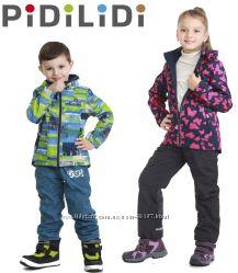 Демисезонные термо куртки softshell 2 в 1 от PIDILIDI Чехия р. 86-158