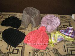 много шапок, шарфы