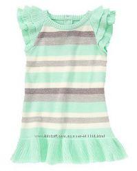 Бирюзовое вязаное платье Crazy 8. Размер 2 г, может подойти на 3 г. Хлопок