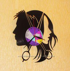 Эксклюзивный подарок парикмахеру Часы из Виниловой пластинки