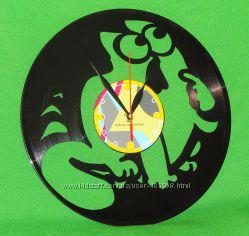 Подарок Часы из Виниловой пластинки Кот Саймона