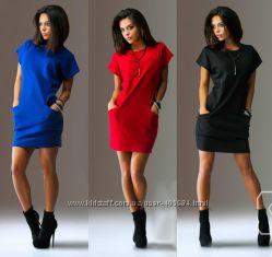 Трикотажные платья-туники Т-003 размеры от 40 до 60