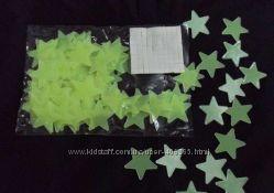 Светещиеся фосфорные звезды-Glow Stars-100шт.