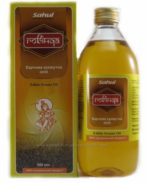 Пищевое кунжутное масло -Говинда- 500мл -Индия